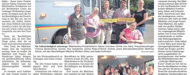 Der Mädchenbus Nordhessen machte Station