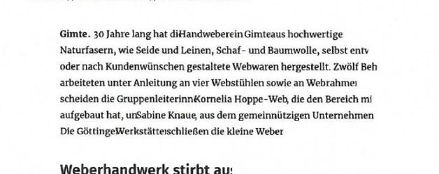 Bericht im Göttinger Tageblatt