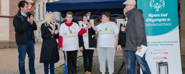 GöWe beim Fackellauf der Special Olympics