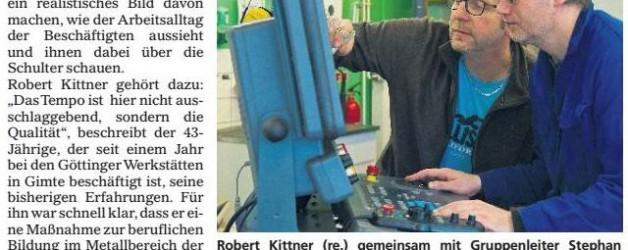 Mündener Rundschau, 10.08.2016: Göttinger Werkstätten stehen Besuchern offen